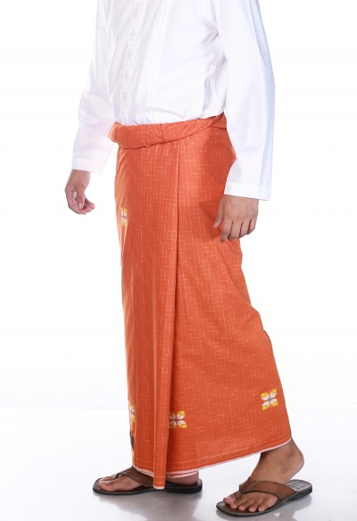 Premium Songket Orange